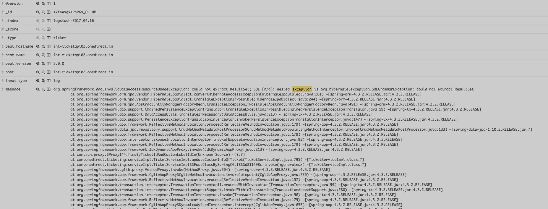 Handling stack traces in Elasticsearch Logstash Kibana (ELK